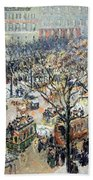 Pissarro's Boulevard Des Italiens In Morning Sunlight Bath Towel