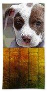 Pitbull Puppy Bath Towel