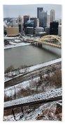 Pittsburgh Duquesne Incline Winter Bath Towel