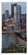 Pittsburgh Before Sunset Bath Towel