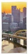 Pittsburgh Incline Sunrise Panorama Bath Towel