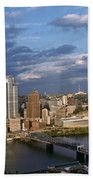 Pittsburgh Skyline At Dusk Bath Towel