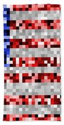 Pixel Flag Bath Towel