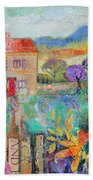 Place In The Country, 2014, Acrylicpaper Collage Bath Towel