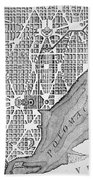 Plan Of The City Of Washington As Originally Laid Out In 1793 Bath Towel