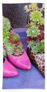 Plants In Pumps Hand Towel