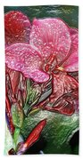 Plastic Wrapped Pink Flower By Diana Sainz Bath Towel