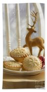 Plate Of Mince Pies Bath Towel