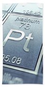Platinum Chemical Element Bath Towel