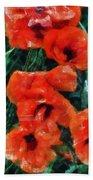 Playful Poppies 5 Bath Towel