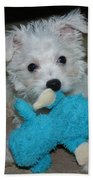 Playful Puppy Hand Towel