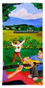 Playing Melodies Under The Shade Of Trees Bath Towel