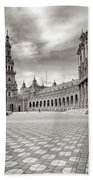 Plaza De Espana Seville Bw Bath Towel