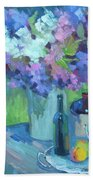 Plein Air Lilacs Bath Towel