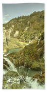 Plitvice Lakes  Bath Towel