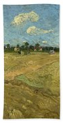 Ploughed Fields - The Furrows Bath Towel