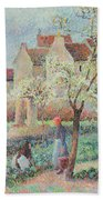 Plum Trees In Flower Bath Towel