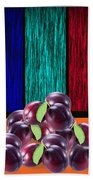 Plums Bath Towel