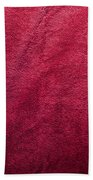 Plush Red Texture Bath Towel