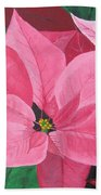 Poinsettia Bath Towel