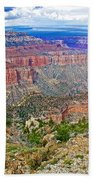 Point Imperial 8803 Feet On North Rim Of Grand Canyon National Park-arizona   Bath Towel