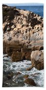 Point Lobos Coast 2 Bath Towel