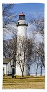 Pointe Aux Barques  Lighthouse Bath Towel