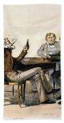 Poker Game, 1840s Bath Towel