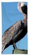 Pole With Pelican  Bath Towel