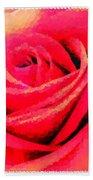 Polka Dot Beautiful Rose Bath Towel