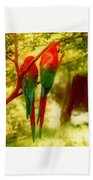 New Orleans Polly Wants Two Crackers At New Orleans Louisiana Zoological Gardens  Bath Towel