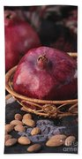 Pomegranates And Almonds Bath Towel
