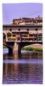 Ponte Vecchio Bridge - Florence Bath Towel