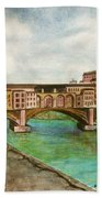 Ponte Vecchio Florence Italy Bath Sheet