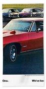 Pontiac Gto - 1964 1965 1966 1967 1968 Bath Towel