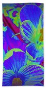 Pop Art Blue Crocuses Bath Towel