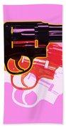 Pop Handgun Bath Towel by Gary Grayson