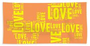 Pop Love 3 Bath Towel