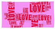 Pop Love 4 Bath Towel