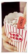 Popcorn Box Office Bath Towel