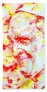 Pope Francis Profile -watercolor Portrait Bath Towel