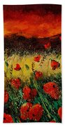 Poppies 68 Bath Towel
