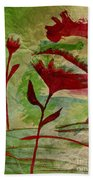 Poppies Abstract 2 Bath Towel