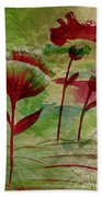 Poppies Abstract 3 Bath Towel