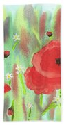 Poppies And Daisies Bath Towel