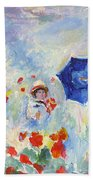 Poppies At Argenteuil Claude Monet Bath Towel