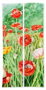 Poppies Collage I Bath Towel