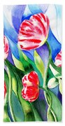 Poppies Field Square Quilt  Bath Towel