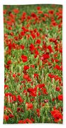 Poppies In Wheat Bath Towel