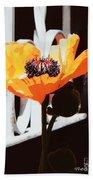 Poppy Art Poster Print Bath Towel